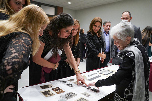 Holocaust survivor and Museum volunteer, Ruth Cohen, speaks with guests at last year's event. Leigh Vogel for US Holocaust Memorial Museum