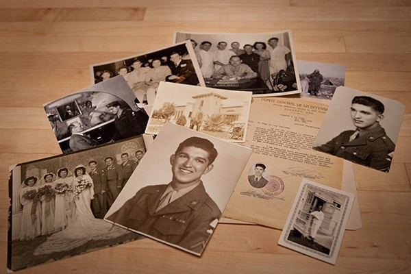 Artifacts donated to the Museum by Anthony Acevedo, a medic with the US Army's 70th Infantry Division during World War II. US Holocaust Memorial Museum