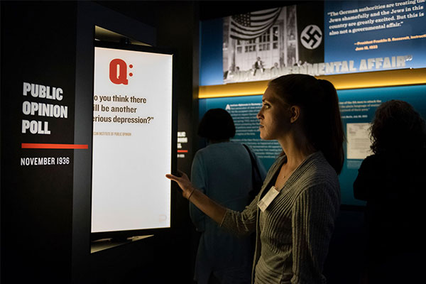 The Museum's new exhibition Americans and the Holocaust features poll results from the 1930s and 1940s. US Holocaust Memorial Museum