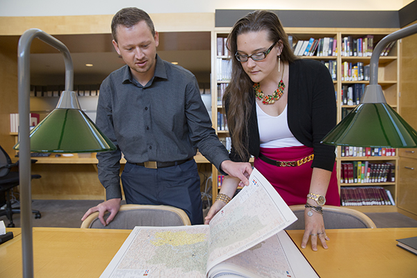 Fellows work in the Museum's library. US Holocaust Memorial Museum