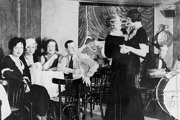 "A scene from the nightclub ""Eldorado,"" Berlin, 1929. The nightclub was closed by a government decree in spring 1933 because it was frequented by the LGBTQ+ community. US Holocaust Memorial Museum, courtesy of bpk-Bildagentur"