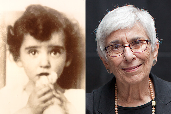 Holocaust survivor Esther Starobin as a child (courtesy of Esther Starobin) and as an adult, today. US Holocaust Memorial Museum