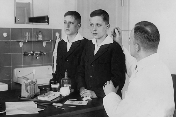 As the head of the Kaiser Wilhelm Institute's Department for Human Heredity, Dr. Otmar von Verschuer, a physician and geneticist, examined hundreds of pairs of twins to study whether criminality, feeble-mindedness, tuberculosis, and cancer were inheritable.Archiv zur Geschichte der Max-Planck--Gesellschaft, Berlin-Dahlem