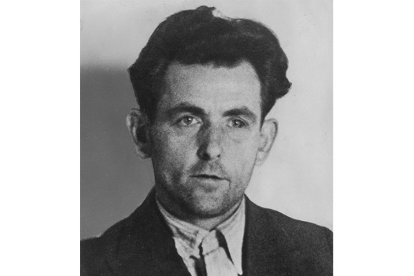 This photograph of Georg Elser in Gestapo custody was taken after he attempted to assassinate Adolf Hitler by setting off a bomb in Munich's Bürgerbräukeller on November 8, 1939. BPK-Bildagentur