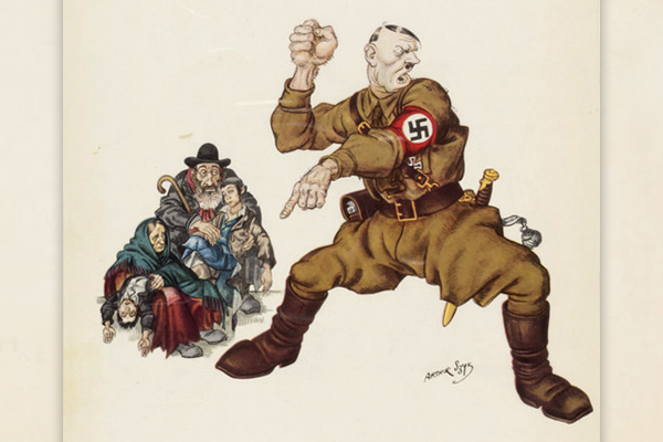 """An Arthur Szyk print titled """"Enemies of the Third Reich."""" US Holocaust Memorial Museum, Gift of Philip R. House"""