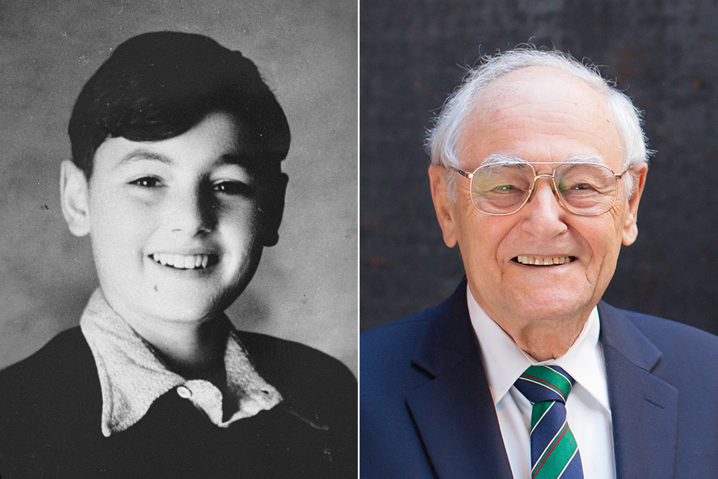 Photographs of Peter Feigl, Holocaust survivor and Museum volunteer, as a child and adult. US Holocaust Memorial Museum